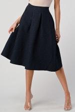 KAII Pleated Waist Mid Length Puffy Skirt - 1