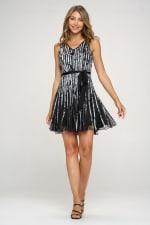 KAII Printed Strap A Line Dress - 3