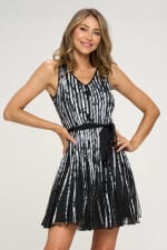 KAII Printed Strap A Line Dress - 1