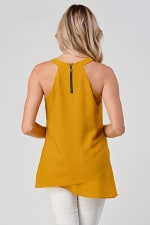KAII Front Racer Double Layer With Jeweled Neck Top - 2