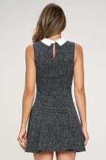 KAII Contrast Collar Flared Bottom Dress - 2
