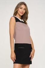 KAII Color Blocked Vegan Leather Contrasting Dress - 9