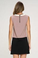 KAII Color Blocked Vegan Leather Contrasting Dress - 7