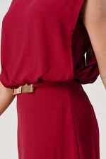 KAII Double Layer Gold Buckle Waisted Top - 5