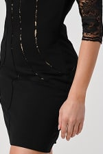 KAII Bustier Lined Lace Top Body Con Dress - 4
