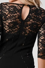 KAII Bustier Lined Lace Top Body Con Dress - 5
