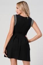 KAII Micro Chain Detailed Pleated Dress - 2
