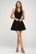 KAII Blocked Seam Skater Dress - 4