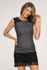 KAII Contrast Lace Yoke Dress - 1