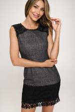 KAII Contrast Lace Yoke Dress - 4