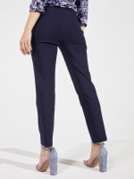 Roz & Ali Super Stretch Pull On Tummy Control Pants with Wide Waistband and Charm Trim - 2