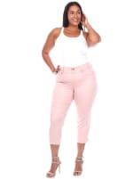 Super Stretchy Capri Denim Jeans - Plus - 1