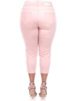 Super Stretchy Capri Denim Jeans - Plus - 4