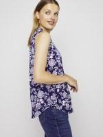 Roz & Ali Sleeveless Jacobean Floral Popover - 6