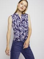 Roz & Ali Sleeveless Jacobean Floral Popover - 4