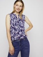 Roz & Ali Sleeveless Jacobean Floral Popover - 5