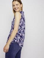 Roz & Ali Sleeveless Jacobean Floral Popover - 7
