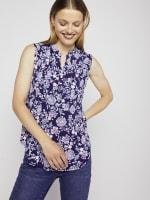 Roz & Ali Sleeveless Jacobean Floral Popover - 1
