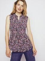 Roz & Ali Sleeveless Multi Color Dot Popover - Misses - 3