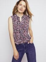 Roz & Ali Sleeveless Multi Color Dot Popover - Misses - 8