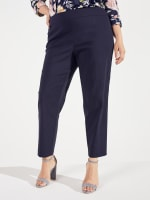 Roz & Ali Super Stretch Pull On Tummy Control Pants with Wide Waistband and Charm Trim - Plus - 9