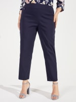 Roz & Ali Super Stretch Pull On Tummy Control Pants with Wide Waistband and Charm Trim - Plus - 11