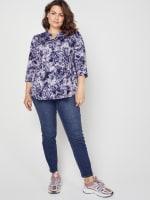 Roz & Ali Denim Friendly Tie Dye Popover - Plus - 3