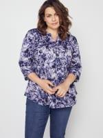 Roz & Ali Denim Friendly Tie Dye Popover - Plus - 7