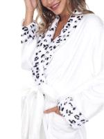 Leopard Print Cozy Lounge Robe - Plus - 5