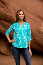 Westport Floral Button Front Shirt - 4