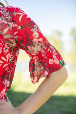 Westport Tropical Floral Print Top - Misses - 3