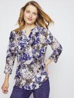 Roz & Ali Palm Floral Popover - Misses - 3