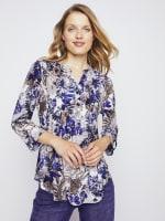Roz & Ali Palm Floral Popover - Misses - 1