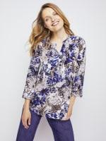Roz & Ali Palm Floral Popover - Misses - 4