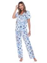 Short Sleeve & Pants Tropical Pajama Set - 1