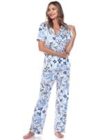 Short Sleeve & Pants Tropical Pajama Set - 4