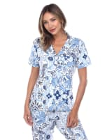 Short Sleeve & Pants Tropical Pajama Set - 6