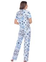 Short Sleeve & Pants Tropical Pajama Set - 2