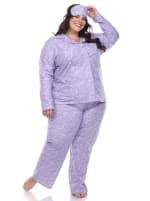 Three-Piece Pajama Set - Plus - 4