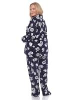 Long Sleeve Floral Pajama Set - Plus - 2