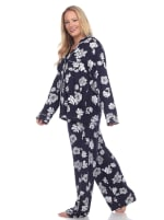 Long Sleeve Floral Pajama Set - Plus - 5