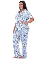 Short Sleeve & Pants Tropical Pajama Set - Plus - 4
