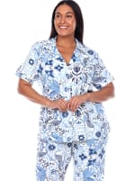 Short Sleeve & Pants Tropical Pajama Set - Plus - 5