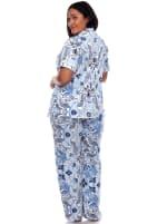 Short Sleeve & Pants Tropical Pajama Set - Plus - 2