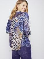 Roz & Ali Tie Dye Clip Jacquard Popover - 7