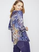 Roz & Ali Tie Dye Clip Jacquard Popover - 6