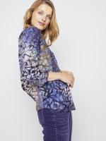 Roz & Ali Tie Dye Clip Jacquard Popover - 5