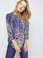 Roz & Ali Tie Dye Clip Jacquard Popover - 4