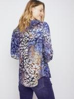 Roz & Ali Tie Dye Clip Jacquard Popover - 2