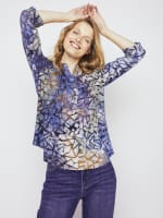 Roz & Ali Tie Dye Clip Jacquard Popover - 3